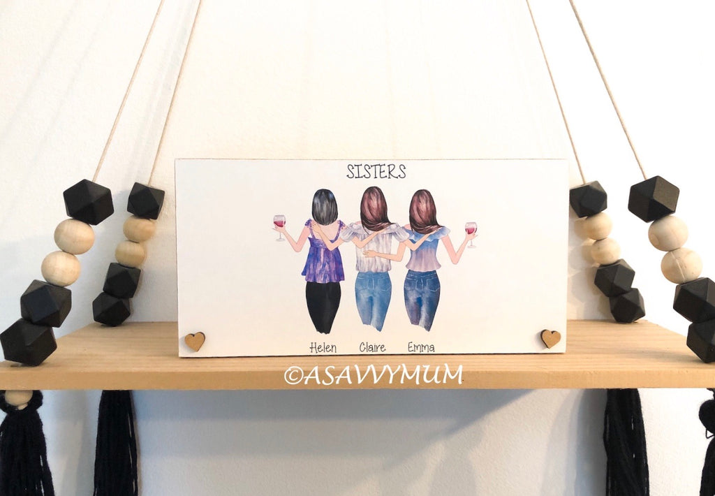 Design Your Own Group of Friends/Family (Female) Plaque