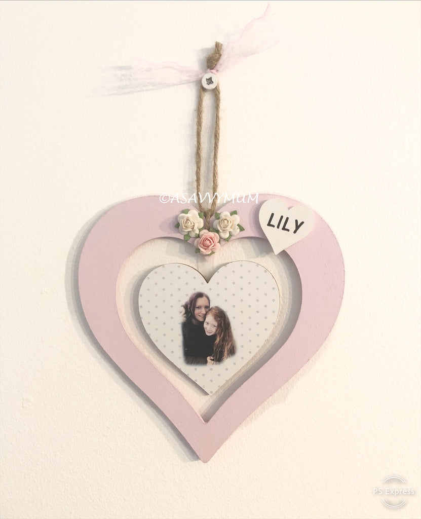 Open Hanging Heart With Photo Or Personalised Message
