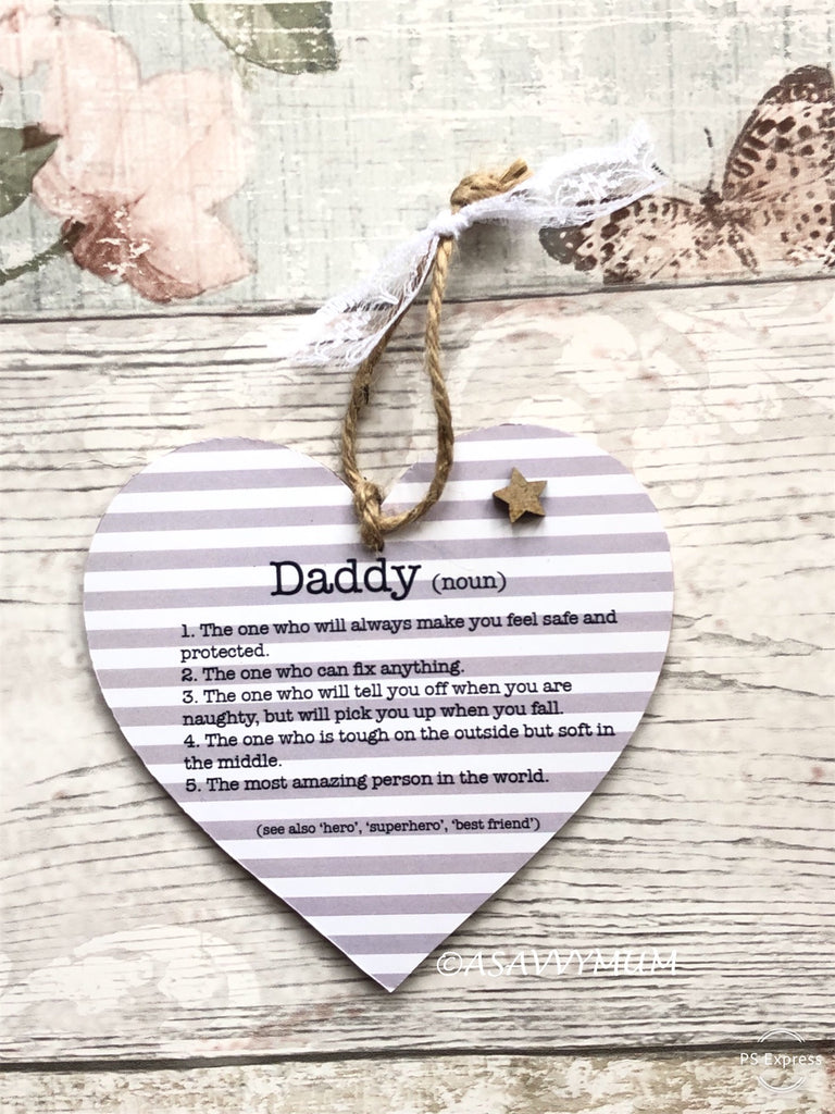 The Meaning of Daddy Hanging Heart