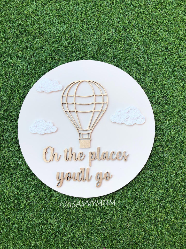 Oh The Places You'll Go Wall Sign