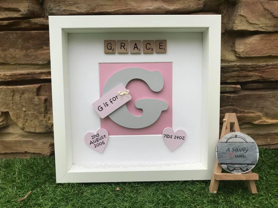 Initial Letter Birth Frame