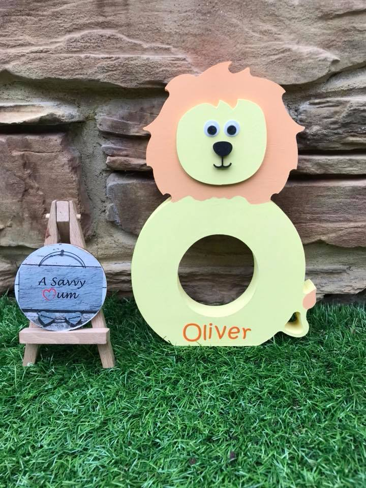 Freestanding Jungle Animal Letter