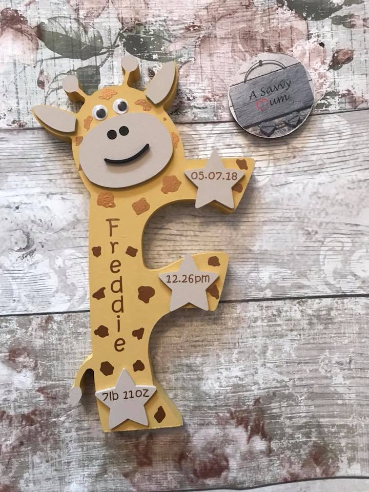 Freestanding Animal Birth Details Letter