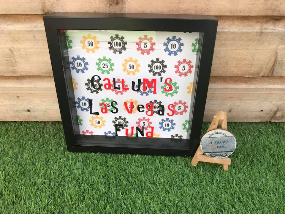 Vegas Fund Moneybox Frame