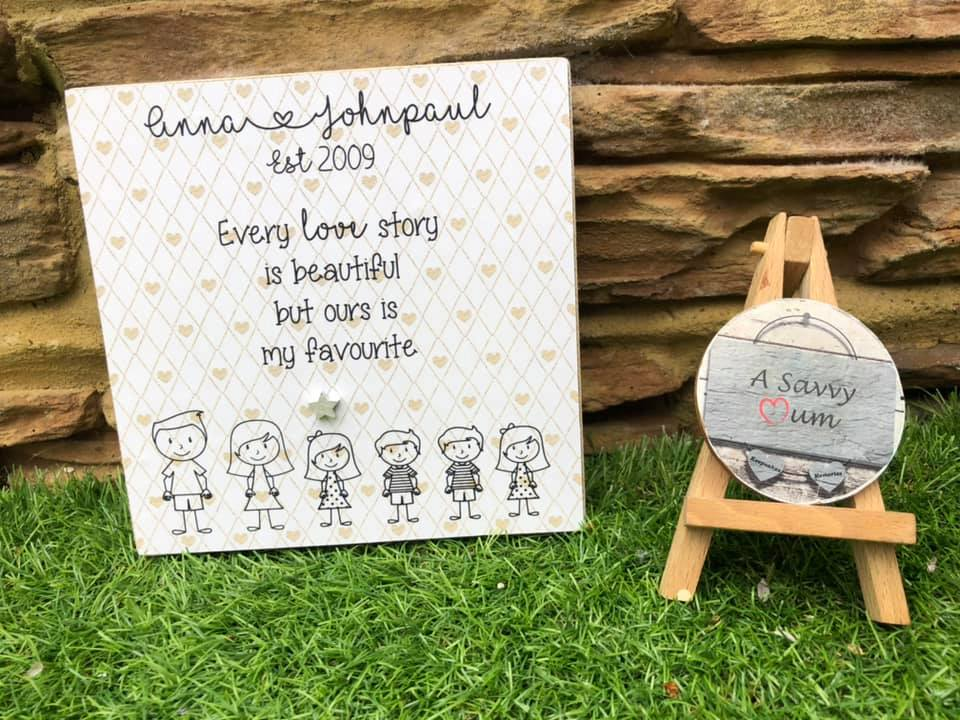 Our Love Story Freestanding Plaque