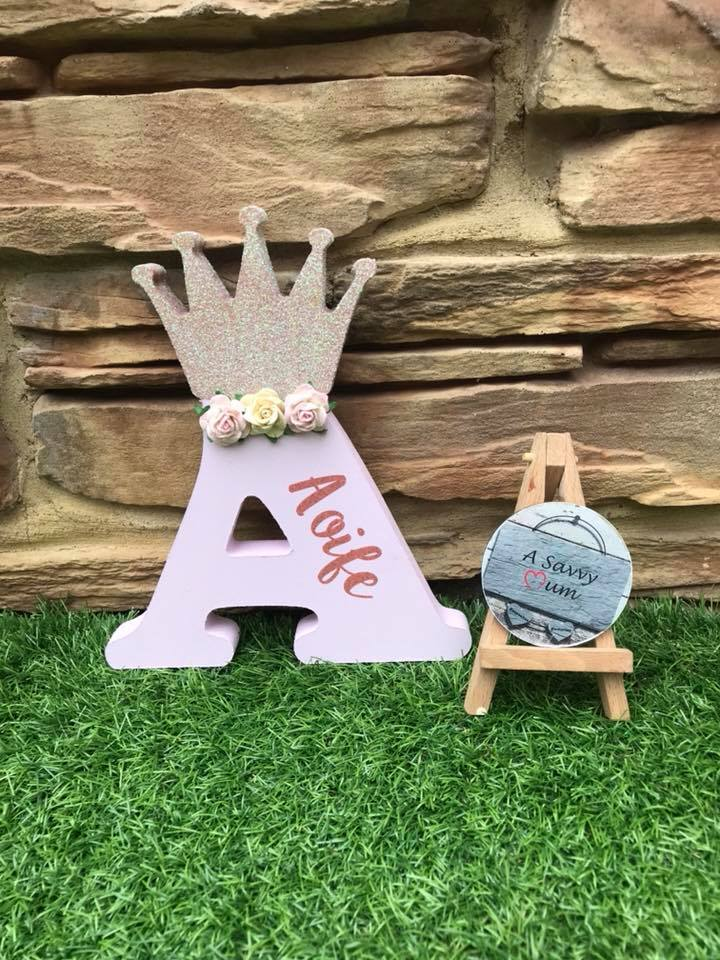 Freestanding Princess Crown Letter