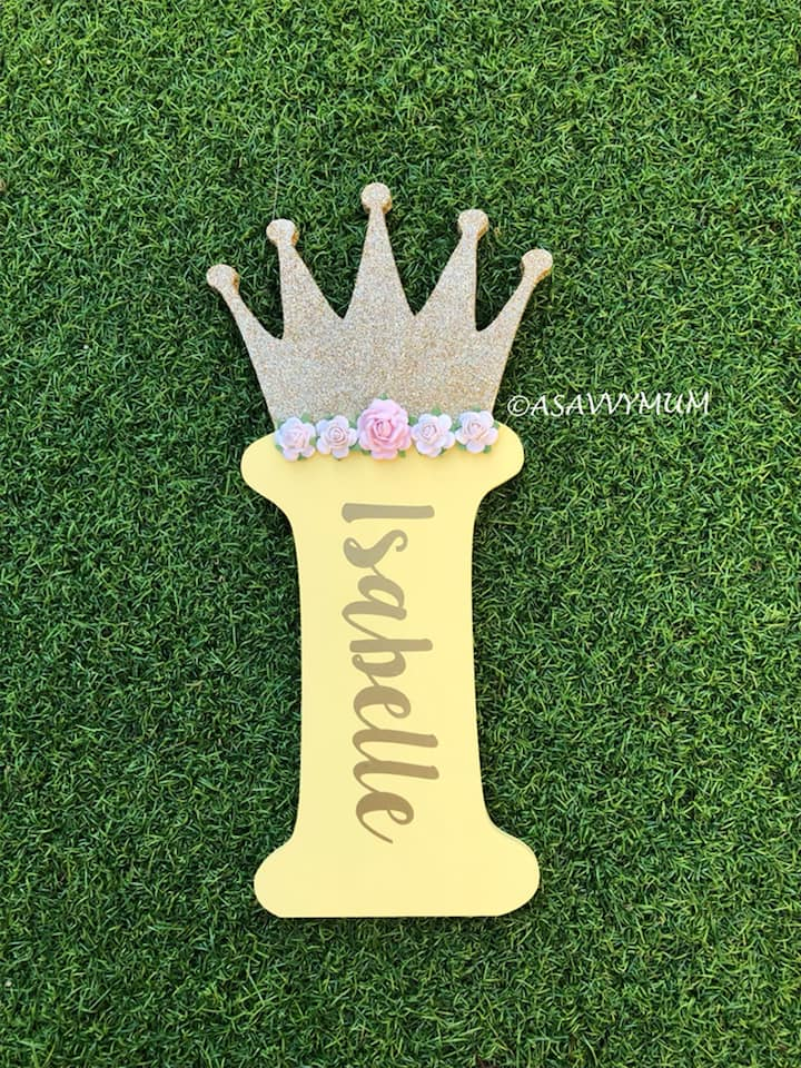 Princess Crown Door Plaque