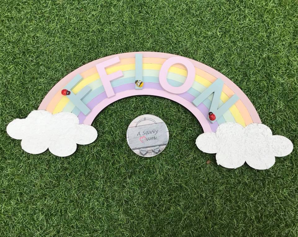 Rainbow Door Sign