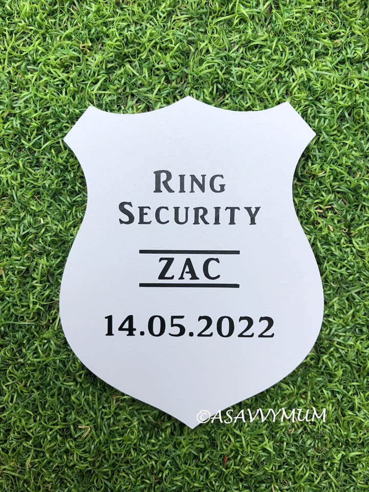 Personalised Ring Security Plaque