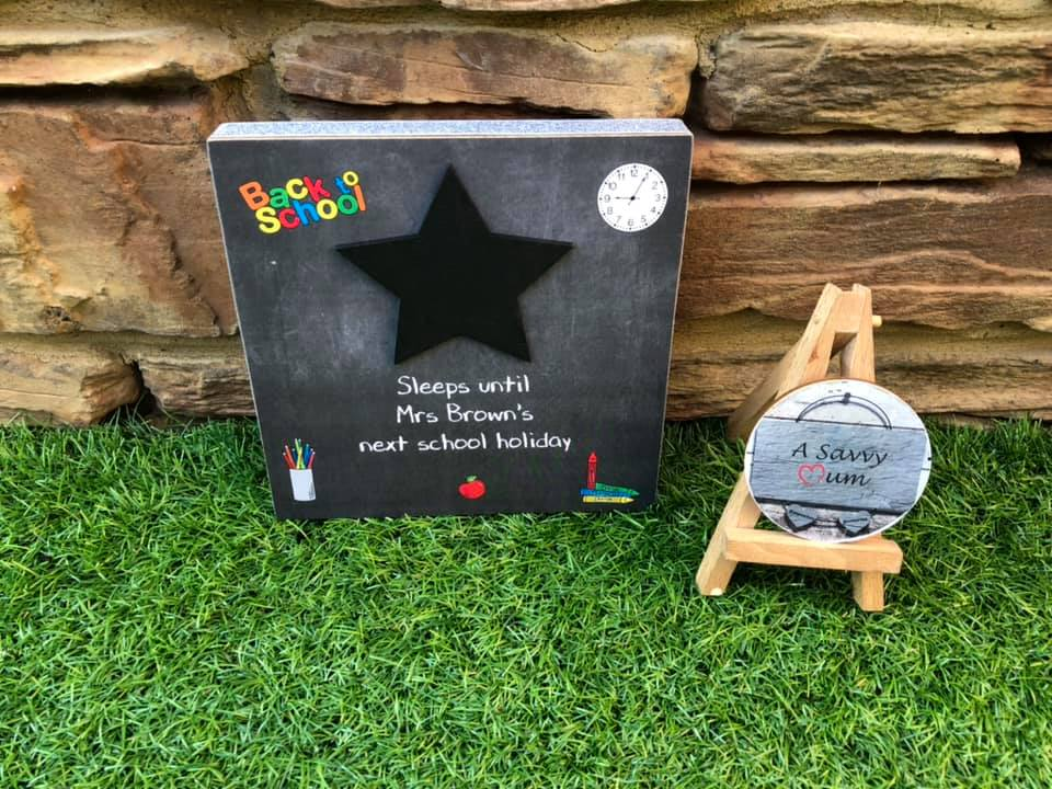School Holidays/Teacher Countdown Plaque