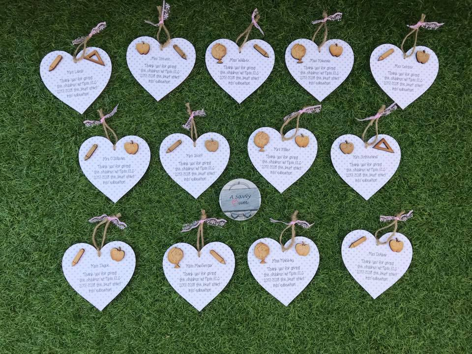 Teacher Hanging Heart- Choose Your Own Message