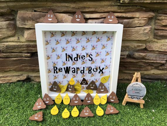 Personalised Toilet Reward Box Frame