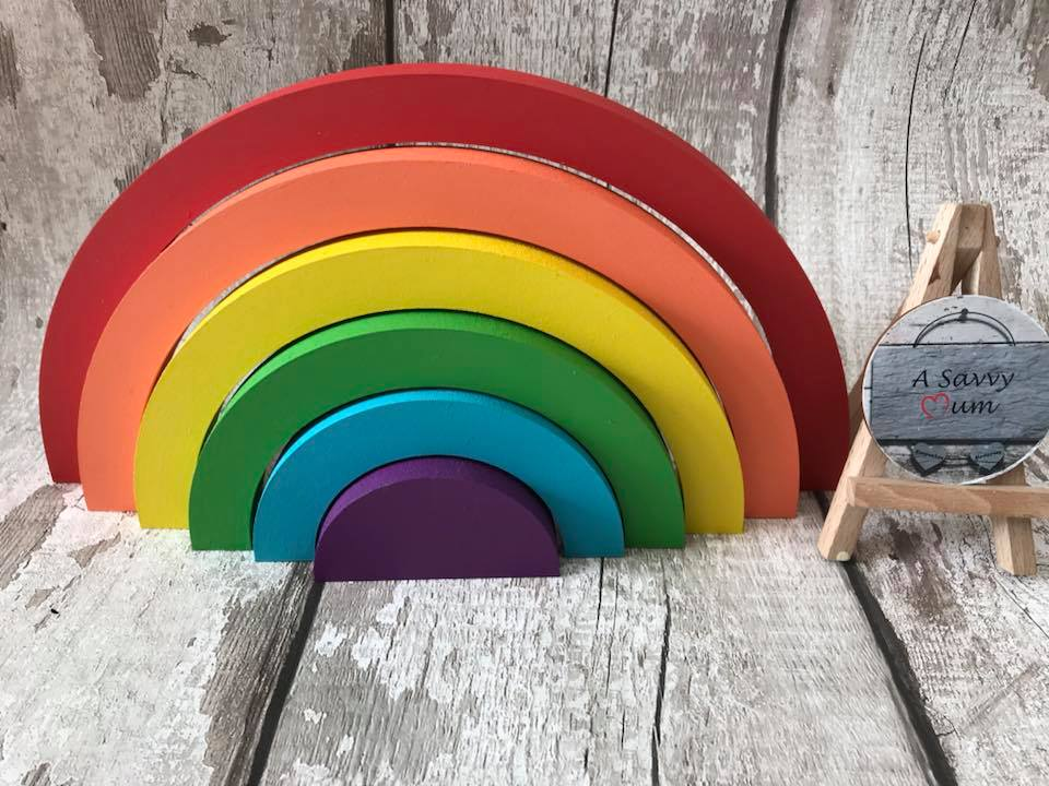 Freestanding Stacking Rainbow