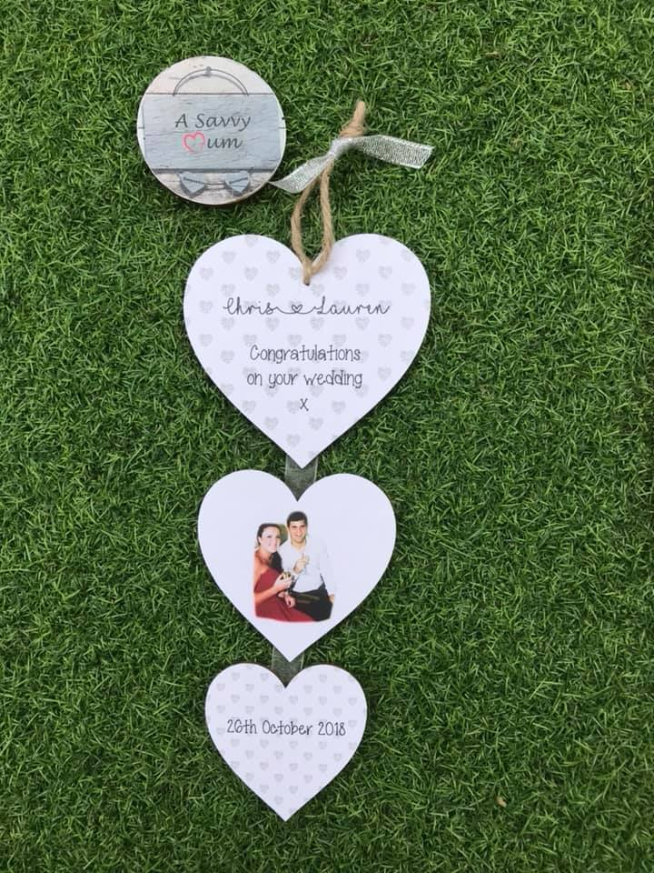 Wedding Hanging Heart Photo Set