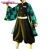 DokiDoki-SR Anime Cosplay Demon Slayer: Kimetsu no Yaiba Cosplay Kamado Tanjirou  Cosplay Kimetsu no Yaiba Costume Men
