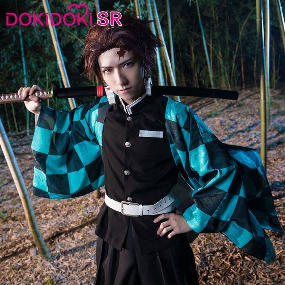 【Ready For Ship】DokiDoki-SR Anime Cosplay Demon Slayer: Kimetsu no Yaiba Cosplay Kamado Tanjirou  Cosplay Kimetsu no Yaiba Costume Men