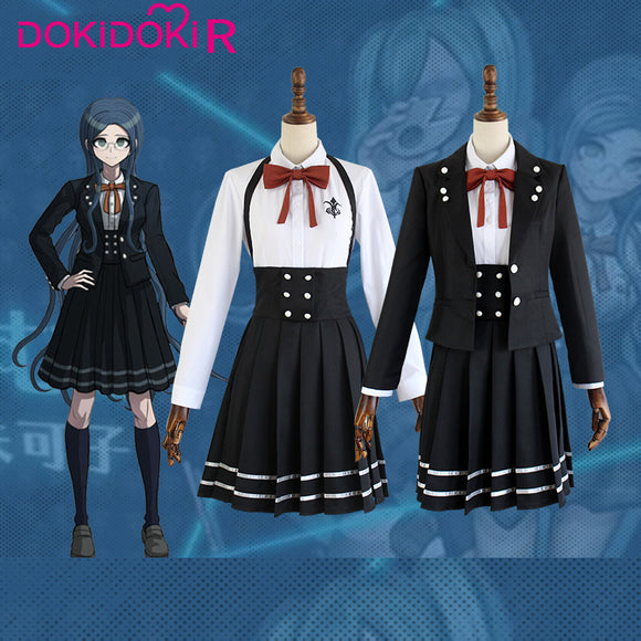 DokiDoki-R Game Danganronpa Cosplay Tsumugi Shirogane Costume Women Halloween Danganronpa V3: Killing Harmony Cosplay Costume