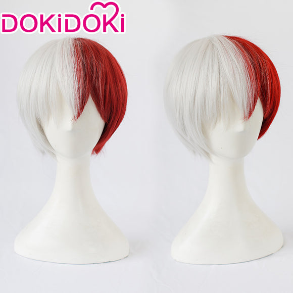 【Ready For Ship】DokiDoki Anime My Hero Academia /Boku No Hero Academia Cosplay Wig Todoroki Shoto