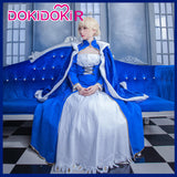 DokiDoki-R Game Fate Cosplay Arutoria Pendoragon Saber Cosplay Fate/stay night Costume Women Blue Dress Costume Halloween