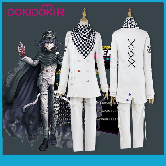 DokiDoki-R Game Danganronpa Cosplay Kokichi Oma  Costume Men Halloween Game Danganronpa V3: Killing Harmony Cosplay Costume