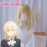 DokiDoki Anime Cosplay Wig Violet Evergarden Cosplay Wig Women Blonde Hair Heat Resistant