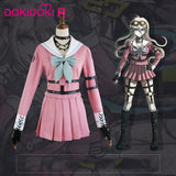 DokiDoki-R Game Danganronpa Cosplay Miu Iruma Costume Women Halloween Pink Danganronpa V3: Killing Harmony Cosplay Costume