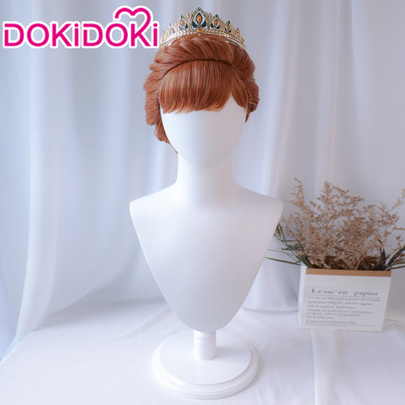 DokiDoki  Movie Frozen Queen Anna Wig Women Brown