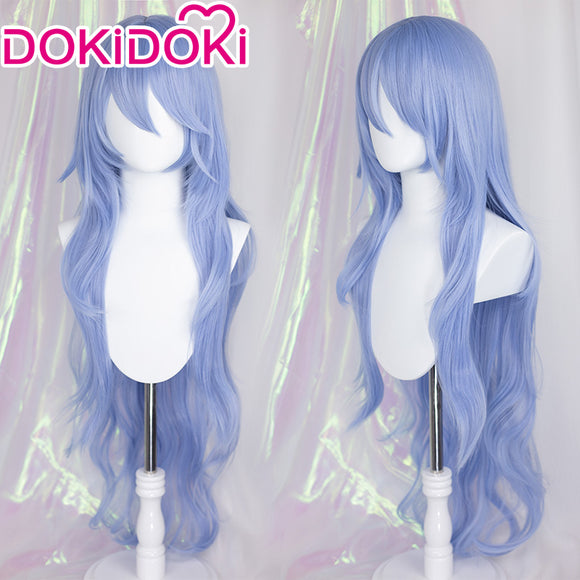 【Ready For Ship】DokiDoki Anime EVA Neon Genesis Evangelion Cosplay Ayanami Rei Wig Long Blue wig