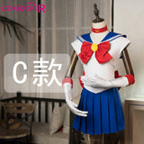 DokiDoki-R Anime Cosplay  Sailor Moon Tsukino Usagi Cosplay Costume Women Sailor Moon Uniform Cute Dress Costume