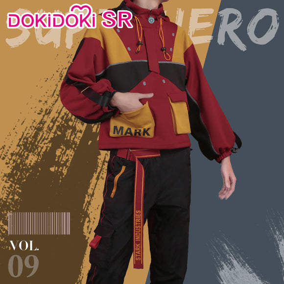 DokiDoki-SR Marvel Iron Man Cosplay Costume Doujin Cusual Wear