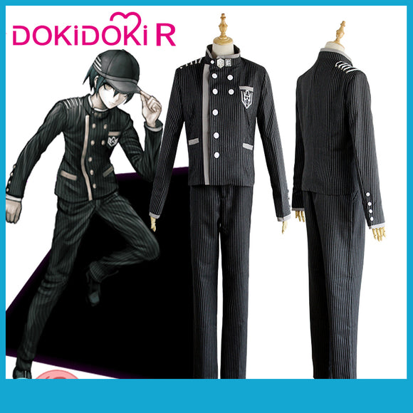 DokiDoki-R Game Danganronpa Cosplay Shuichi Saihara Costume Men Game Danganronpa V3: Killing Harmony Cosplay Costume Halloween