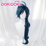 DokiDoki Game Genshin Impact Cosplay  Kaeya Wig  Long Dark Blue