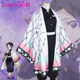 DokiDoki-R Anime Cosplay Demon Slayer: Kimetsu no Yaiba Kochou Shinobu Costume Women Halloween Costume Kimetsu no Yaiba Cosplay