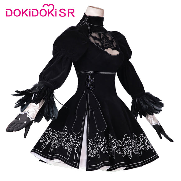 DokiDoki-SR Cosplay Game NieR:Automata Cosplay 2B Cosplay YoRHa No. 2 Type B Cosplay Costume Women