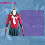 DokiDoki-R Game Danganronpa Cosplay Maki Harukawa Costume Women Halloween Red  Danganronpa V3: Killing Harmony Cosplay Costume