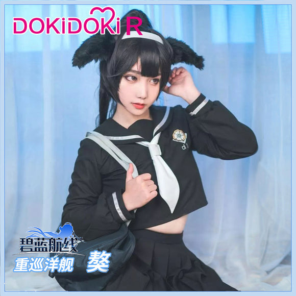 DokiDoki-R Game Cosplay Azur Lane IJN Takao JK Cosplay Costume