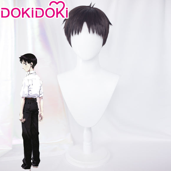【Ready For Ship】DokiDoki Anime NEON GENESIS EVANGELION EVA Cosplay Ikari Shinji Wig Short Black