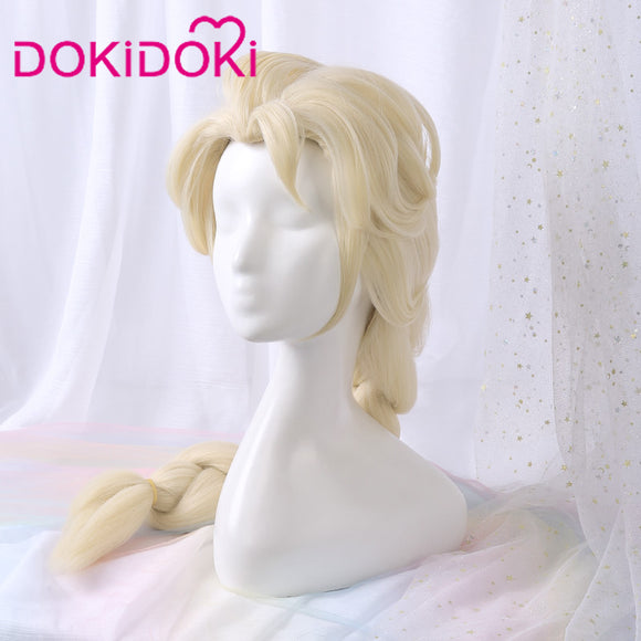【Ready For Ship】DokiDoki Movie Frozen 2 Elsa Wig Women Long Blonde Cosplay Hair Heat Resistant