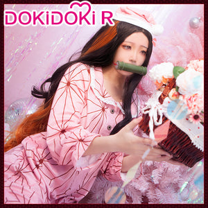DokiDoki-R Anime Demon Slayer: Kimetsu no Yaiba Kamado Nezuko Cosplay Pajamas