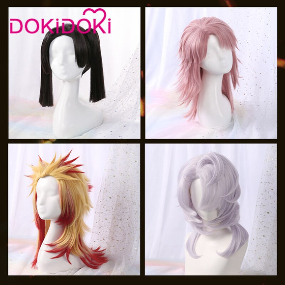 [ Ready For Ship ]DokiDoki Anime Demon Slayer: Kimetsu no Yaiba Cosplay Wig  Sabito/Rui/Rengoku Kyoujurou/Kanzaki Aoi Wigs Men Women