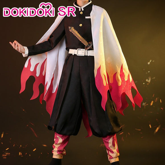 [ Ready For Ship ]DokiDoki-SR Anime Demon Slayer: Kimetsu no Yaiba Cosplay Rengoku Kyoujurou Costume Men  Costume Kimetsu no Yaiba Cosplay
