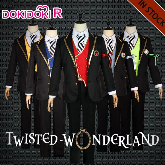 Dokidoki-R Game Twisted Wonderland Cosplay Costume Riddle Floyd Lilia Ace Cater Malleus Leona Jack Vil Ruggie Epel Rook Cosplay