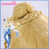 DokiDoki Game Fate/Grand Order Saber Arutoria Pendoragon Cosplay Wig Blonde Heat Resistant Hair