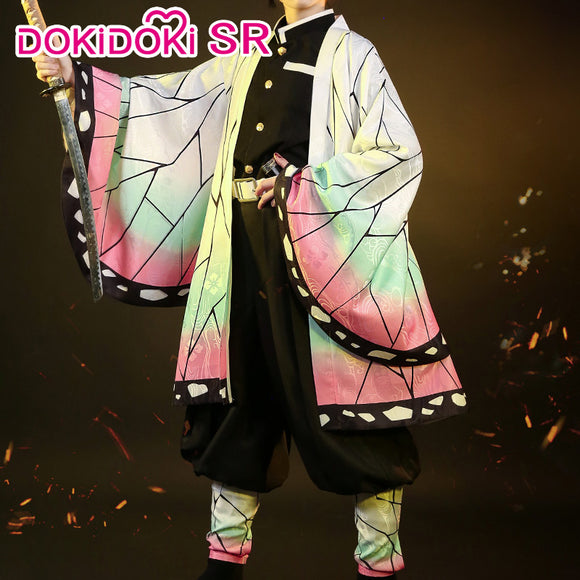 DokiDoki-SR Anime Cosplay Demon Slayer: Kimetsu no Yaiba Cosplay Kochou Shinobu Cosplay Kimetsu no Yaiba Costume Women
