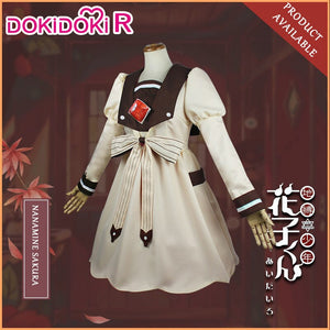 DokiDoki-R Anime Cosplay Jibaku Shounen /Toilet Bound Hanako-kun Cosplay  Nanamine Sakura Nene School Uniform