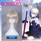 DokiDoki Game Fate/stay night Cosplay Wig Arutoria Pendoragon Hair Women Fate/stay night Saber Alter Cosplay Wig