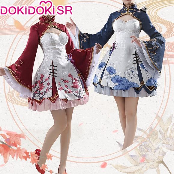 DokiDoki-SR Anime Game Re Zero Rem Rame Cosplay Women Cheongsam Dress