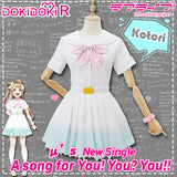 DokiDoki-R Anime  LoveLive! School Idol Project Cosplay Lovelive Costume μ's 8th A song for You Uniform Women