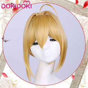 DokiDoki Game Fate Nero Claudius Caesar Augustus Saber Cosplay Wig Women Blonde Hair Heat Resistant