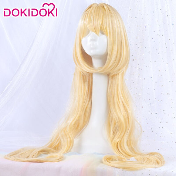 Dokidoki Anime Alice In Wonderland Doujin Cosplay Wig Women Long Bloned Hair